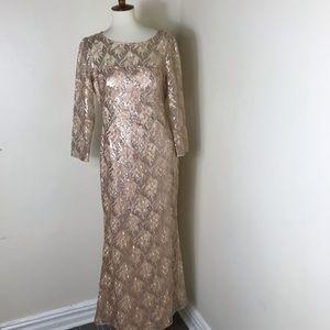 NEW Eliza J sequin gown maxi dress